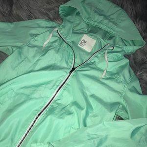 Zine green windbreaker jacket